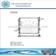 Radiador De Alumínio Para TOYOTA TACOMA 05-13 164000C180W Fabricante e Venda direta