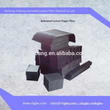 matériel d'élimination de gaz Filtre à papier de charbon actif