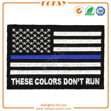 Factory Supplier for for China Manufacturer Supply  Embroidered Patches , Custom Fabric Patches , Embroidery Patch Fabric These Colors Don't Run USA Flag embroidery patch export to New Zealand Exporter