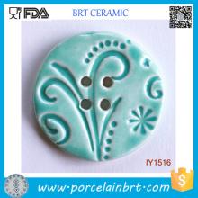 Botões de costura de cerâmica decorativa Reseda