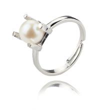 Einfacher heißer Verkaufs-natürlicher Frischwasser-Weinlese-Perlen-Ring