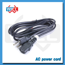 3 Prong Cable de alimentación portátil USA UL
