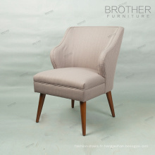 Chaises de salle à manger de luxe en bois chaise cadre en tissu à l'arrière