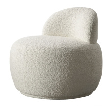 Nordic Style Hotel Luxury Sofa Chair Teddy Plush Fur Fabric Accent Chair for Coffee Shop