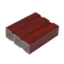 Perfil de muebles de aluminio de grano de madera personalizado