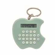 Apple shape small key ring calculator 8 digits