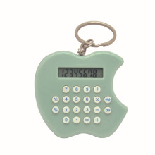 Apple shape small key ring calculator 8 digits