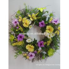 Artesanía artificial Decoraciones de Pascua flor Suministros de la guirnalda