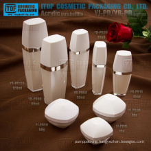 Special recommended good quality 1st grade raw material pure crystal double layers acrylic plastic recycled cosmetic packaging