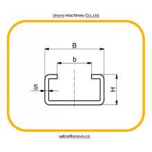 canal de suporte ranhurado canal U 41x41
