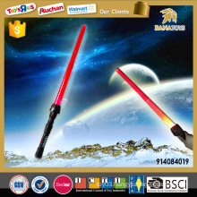 Funny kids telescopic sword toy with light and music