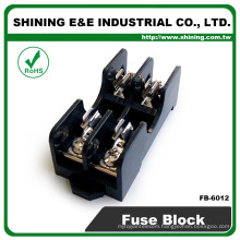 FB-6012 6x30mm Glass Fuse 600V 15A 2 Way Panel Mounted Fuse Holder