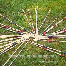 Outdoor Wooden Pick Up Sticks Spiel Mikado Set