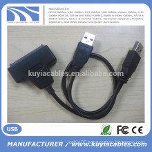 "High Speed Sata to USB Converter Cable USB 2.0 to sata 15+7 pin connector for 2.5"" hard disk"