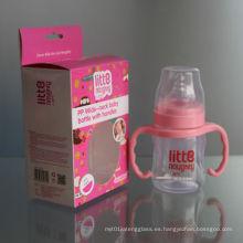 6oz 180ml de cuello ancho PP Baby Feeding Bottle
