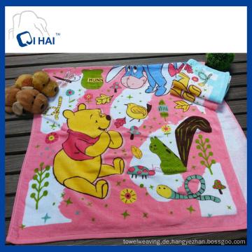 100% Baumwolle bedrucktes Gesicht Handtuch Winnie The Pooh Towel Hersteller