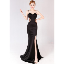 Night club women's wear 2016 new black slim long evening dress stage catwalk model