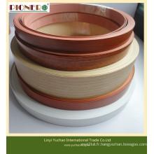 Bande de chant en PVC avec couleur unie / grain de bois
