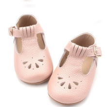 Sapatos de couro infantil T Bar Soft Sole Baby