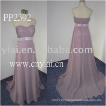 2011 high quality drop shipping manufacture sexy one shoulder beaded chiffon evening gown PP2392
