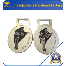 Abrebotellas de plata del esmalte suave de la aleación del cinc