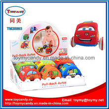Newer Cartoon Lovable Kids′ Pull Back Plastic Cars Toy