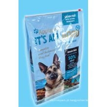 Malote plástico do zíper do slider, empacotamento plástico de alimentos para animais de estimação