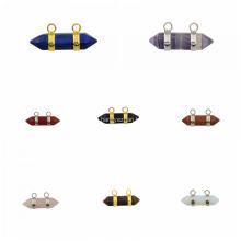 Mode Hexagon Bicone Pendentif Plaqué Argent pour les Femmes Bijoux Collier