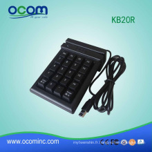 KB20R: clavier numérique de mini clavier de clavier de mini clavier de 20 touches avec le lecteur de bande magnétique