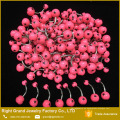 Anillo de vientre de acero quirúrgico falso 316L estrellas bolas impresas anillos de ombligo plano Piercing