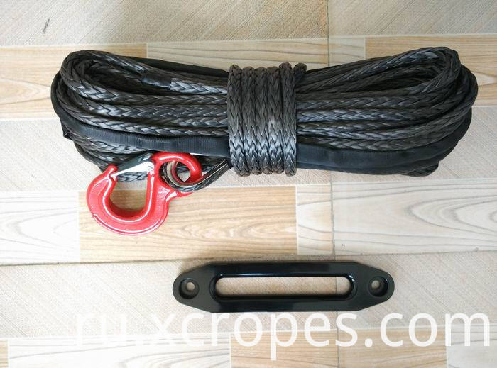 12-Strand UHMWPE Winch Rope Mooring Rope Black