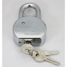 Round Steel Padlock with Flat Keys