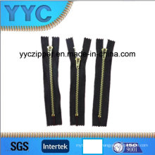 Close End Y Teeth Metal Zipper
