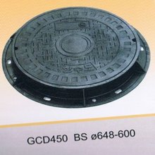 EN124 round ductile iron manhole covers