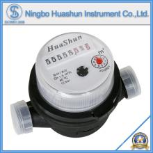 Medidor de agua de plástico / Medidor de agua de chorro simple / Medidor de agua de tipo seco