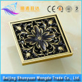 In-stock factory golden brass anti-odor bathroom square floor drain
