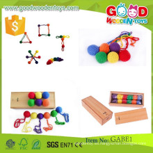 Alta calidad gabe juguetes niños inteligentes juguetes de madera OEM educativo gabe bead juguetes