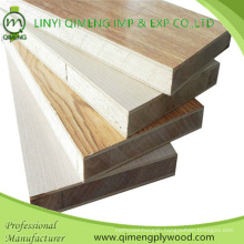 Linyi Factory Nature Veneer or Melamine Paper Face 16mm 17mm 18mm Block Board Block Board Plywood with Furniture Useing