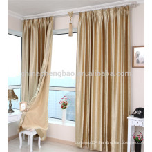 Metal curtain ring snap balckout curtain drapes for bedroom