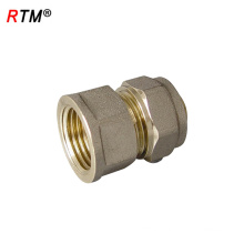 B 4 8 brass fitting, brass pipe compression fitting