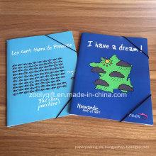 Documentos impresos personalizados A4 Elásticos Documentos Carpeta de carpetas de papel