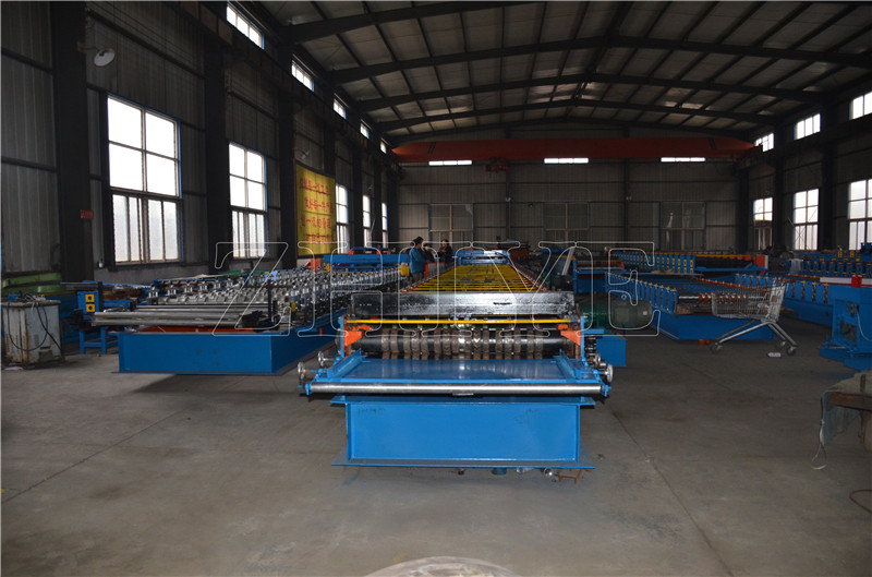 CNC Mill Zinc Floor Decking Sheet Rolling Machine