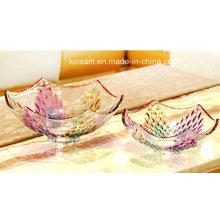 Cuenco de fruta del vidrio cristalino del diseño moderno para la decoración casera