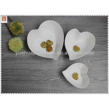 heart shape porcelain soup bowl