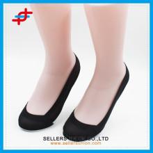Semelle de coton pour femmes, bouche peu profonde, tricot invisible en nylon, chaussettes en gros