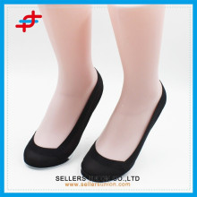 Women's' cotton sole shallow mouth invisible knitting nylon sock/bulk wholesale socks