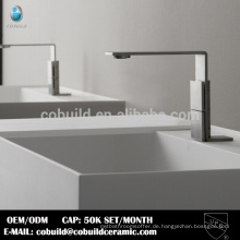 China Fabrik Sanitär 304 Edelstahl satin Oberfläche Badezimmer Wasserhahn für Becken