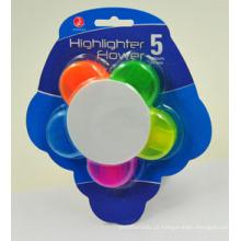 5 em 1 Highlighter em Flower Shape Pen
