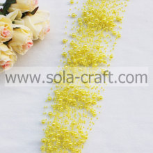 3 + 8 MM amarillo perla Artificial Garland de cuentas para la decoración