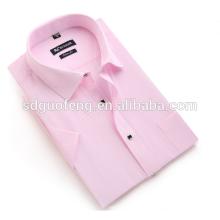 Camisas blancas baratas del algodón del cuello del túnel de las telas de algodón 190g para los hombres